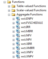 SQL Server financial functions - aggregates