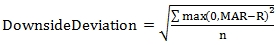 Downside Deviation formula