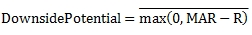 Downside Potential formula