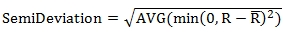 Semi Deviation formula
